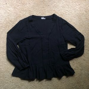Gap peplum black top